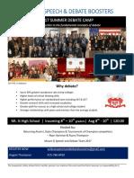 debate 2017 camp flyer