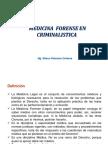 Medicina Forense en Criminalistica