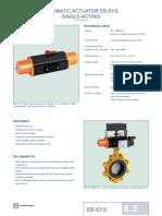 Pneumatic Actuator Eb-sys, Single-Acting