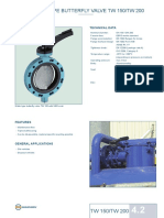 Wafer Type Butterfly Valve Tw 150_tw 200