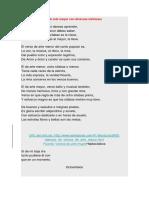 Ejemplo de Versos de Arte Mayor Con Diversas Métricas