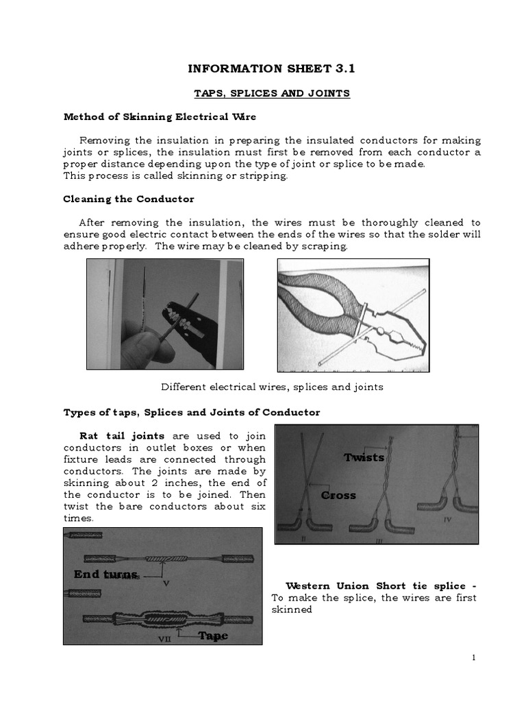 Tap Joint Splices Wire Electrical Wiring