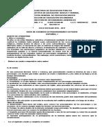 Examen Extraodinario Español Primer Grado Secundaria Por Ámbitos