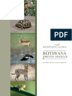 Wilderness Safaris Botswana Species Checklist