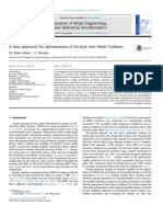 2016 a New Approach for Optimization of Vertical Axis WindTurbines
