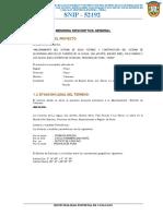 Memoria Descriptiva PROYECTO DE ALCANTARILLADO