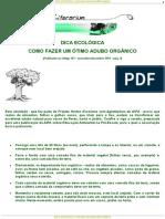 DICA ECOLOGICA - Como fazer um otimo adubo orgânico