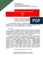 Resolução Técnica de Transição 2017