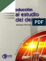 Introducción Al Estudio Del Derecho - Antonio Piccato Rodriguez