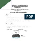 Practica n° 5 Filtracion