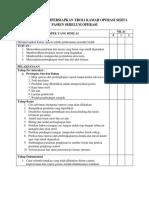 Checklist Troli