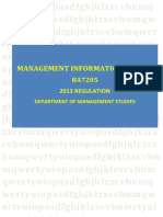 BA7205 Management Informantion System