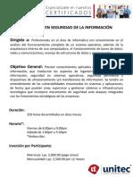 CFP Seguridad de La Informacion 2017