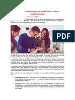 Seis Dimensiones Para La Medición de Clima Organizacional ESAN