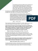 Carta de Alguns Senhores de Escravos Fugitivos Pedindo Auxilio Militar Na Forma Da Ordem