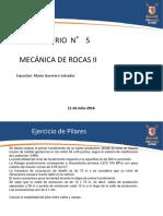 Ayudantia 5 Mecanica de Rocas II