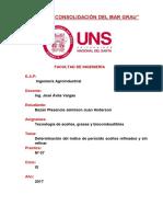 Indice de Peroxidos de Aceites Refinados y Sin Refinar Lab 07 Grasas Aceites