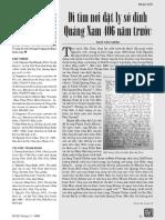 Đi Tìm Dinh Sở Quảng Nam 406 Năm Trước - Ngô Văn Minh