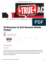 10 Reasons to Eat Sesame Seeds Today! – True Activist