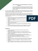 Interpretación y Aplicación de La Ley de Seguridad y Salud en El Trabajo