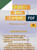CD-Manejo de La Escena Del Delito en El Sistema Penal Acusatorio