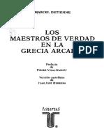 Detienne, Marcel - Los Maestros de Verdad en La Grecia Arcaica