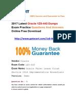 Latest Gotocert Oracle 1Z0-443 Dumps PDF Shared