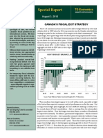 TD BANK-AUG-03-Canadas Fiscal Exit Strategy