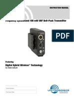 Um400 Transmitter Manual