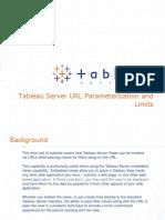 Tableau Server URL Parameterization
