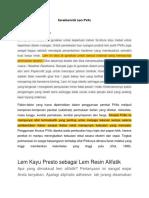 Karakteristik Lem PVAc