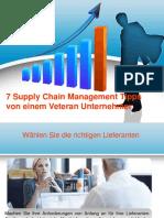 oliverkorpilla | 7 Supply Chain Management Tipps von einem Veteran Unternehmer