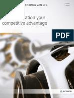 Product Design Suite 2016 Brochure