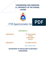 FTIR Spectrometer Analysis