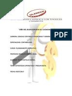 Plan Operativo y Presupuesto