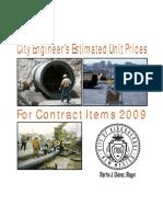2009 Unit Cost