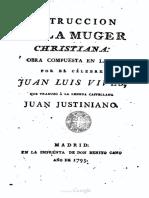 Vives Instruccion de La Mujer Christiana (1793)
