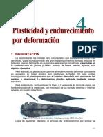 Plasticidad y endurecimiento por deformación de los materiales