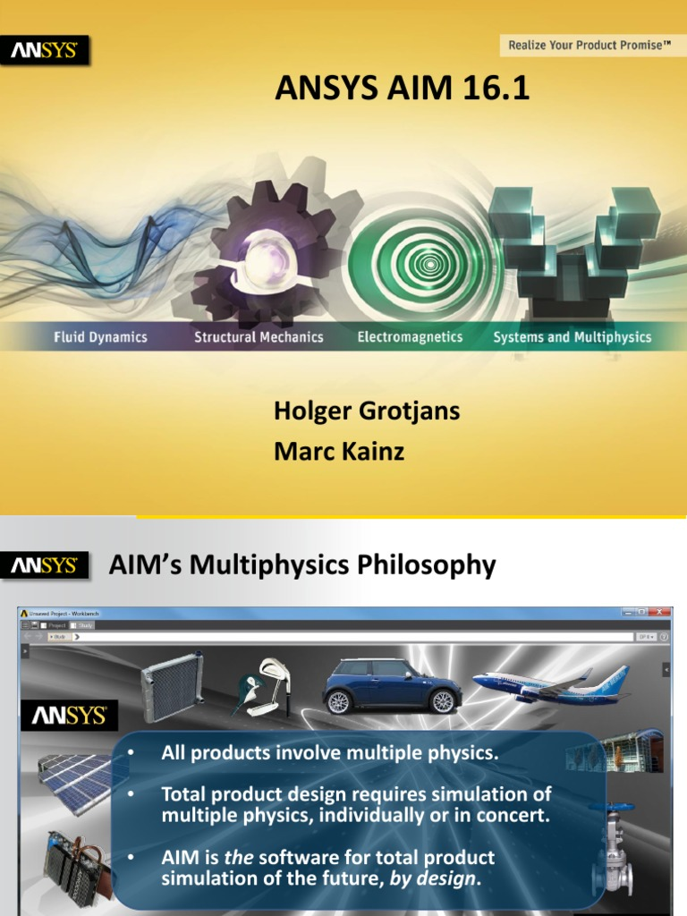 CFD 07 Grotjans Kainz ANSYS AIM-Update | Simulation
