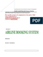 Airline Booking System Mca Project Report