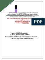 Arbitrage Trade Analysis -Project Sample