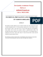 Project - Incidence, Prevalence and Mortality in Various Diseases