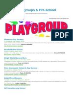 Playgroups Pre School BizHouse.uk