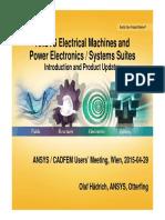 EM 01 Haedrich Electromechanical Update Ansys Acum Wien 20150429 1