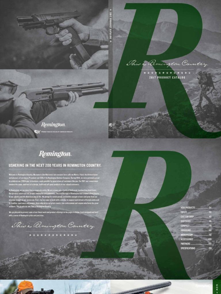 2017 Remington Catalog | Firearms | Projectile Weapons