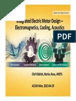 EM 03 Haedrich Integrated Electric Motor Design Electromagnetics Cooling Acoustics Ansys Acum Wien 20150429