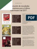 Novedades de Ponent Mon Para El Ultimo Cuatromestre 2017