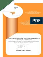PLAN ESTRATÉGICO GERENCIAL DE ACTIVIDADES FÍSICO-RECREATIVAS PARA PERSONAS DE LA TERCERA EDAD.