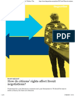 How do citizens' rights affect Brexit negotiations? | Politics | The Guardian