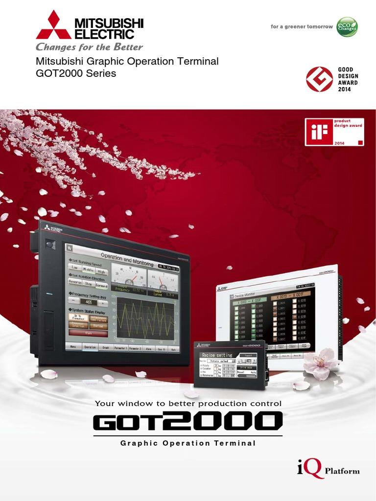 Mitsubishi Graphic Operation Terminal GOT2000 Series (Catalog) - l08270engc    Usb   Usb Flash Drive